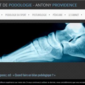 Page podologie - Vue Ordinateur