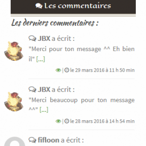 Widget commentaire