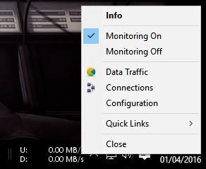 """Une fois installé et que le programme se trouve bien sur votre barre des tâches, cliquez droit dessus et ensuite sur """"Configuration"""""""