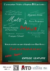 Mots à Maux, l'affiche !