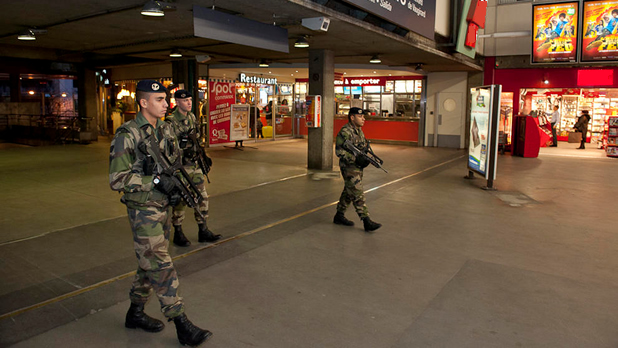 Opération Sentinelle à la Gare Montparnasse