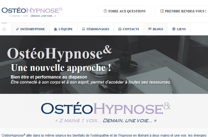OstéoHypnose& - Conception du site