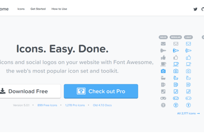 Font Awesome 5 !