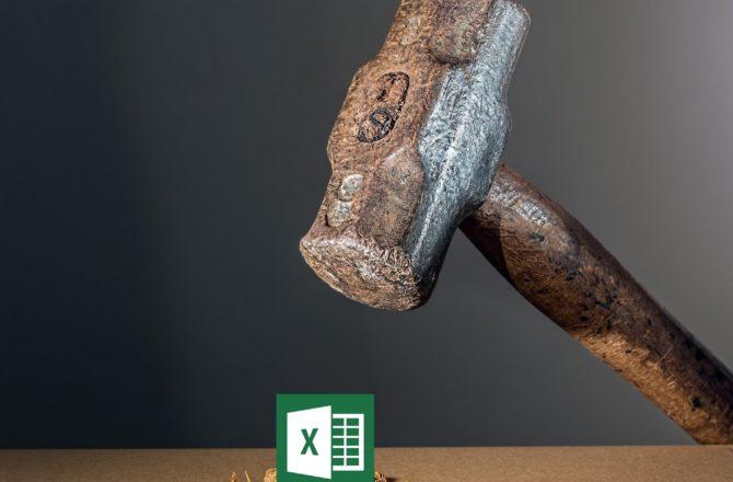 Excel, mon pire ami.