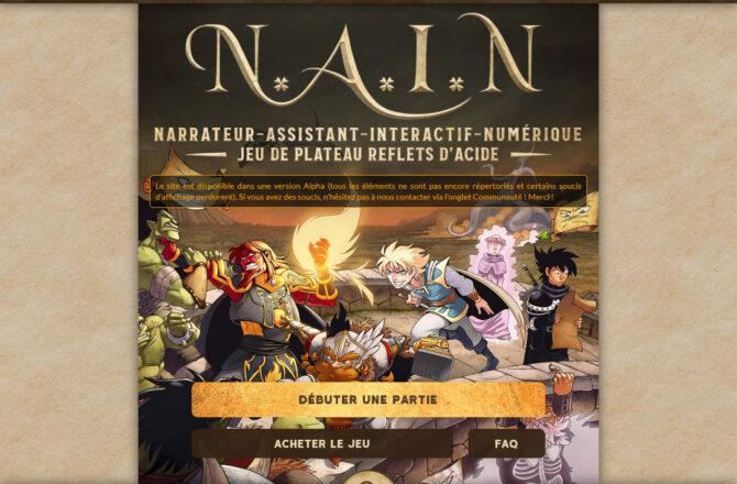 N.A.I.N - Reflets d'Acide, le jeu de plateau - Conception de site